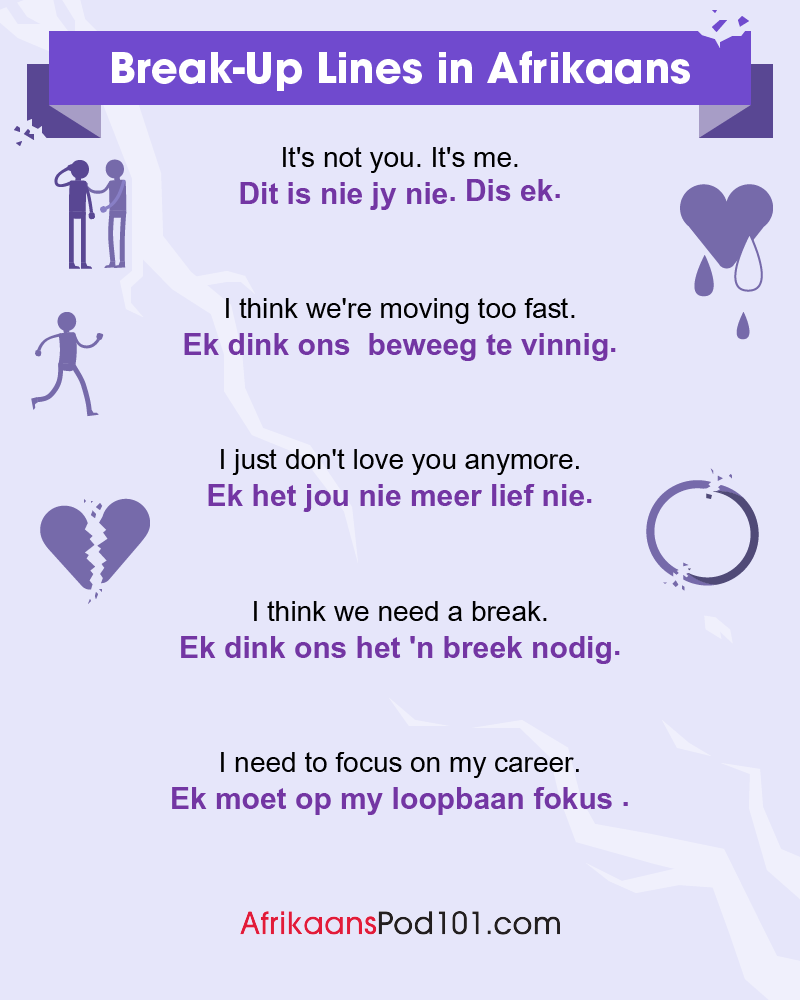 Afrikaans Break-Up Lines