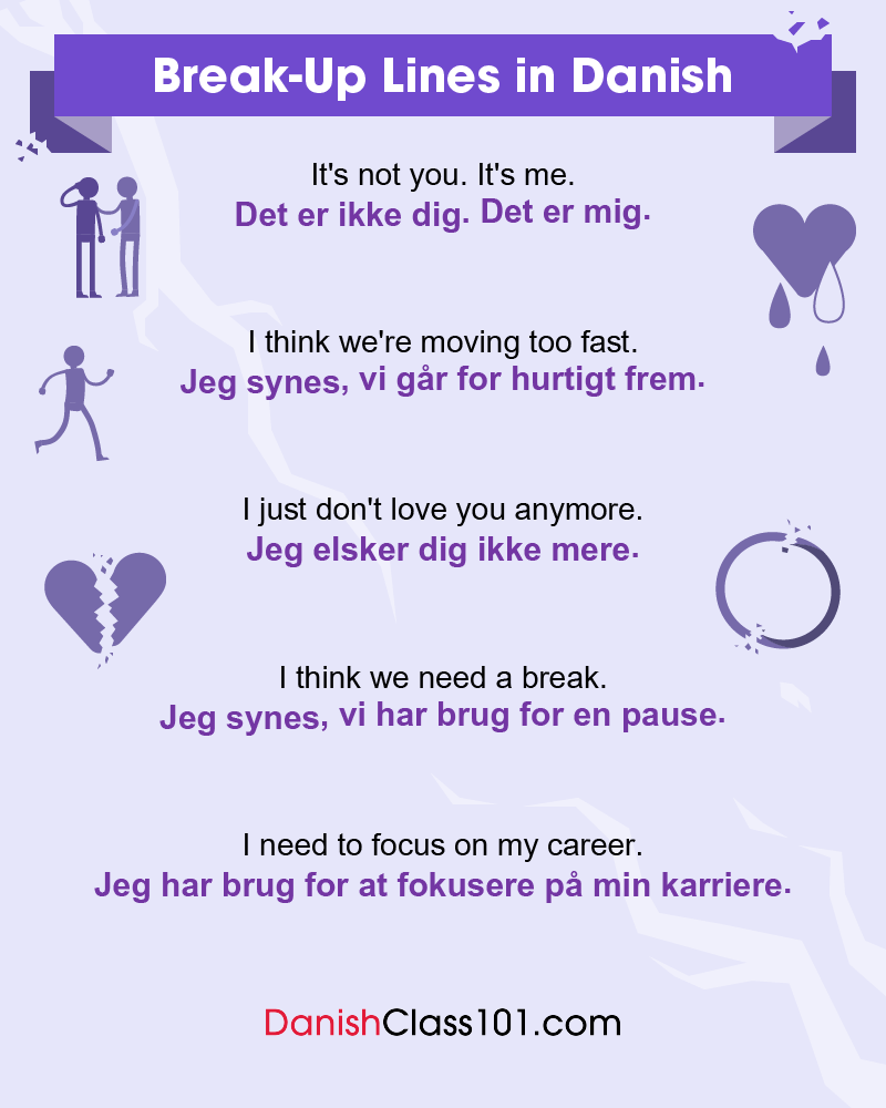 Danish Break-Up Lines