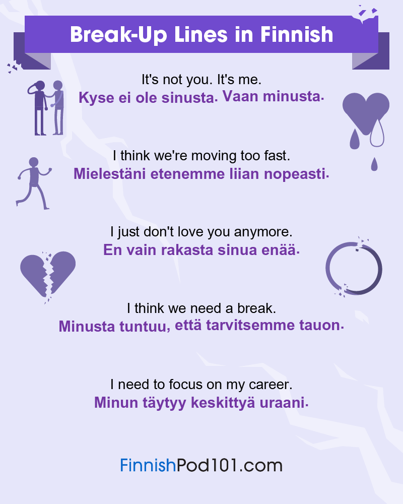 Finnish Break-Up Lines