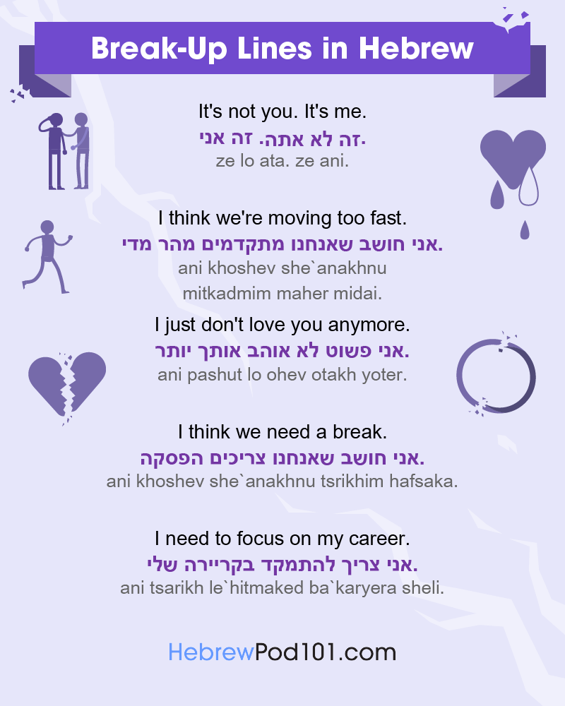 Hebrew Break-Up Lines