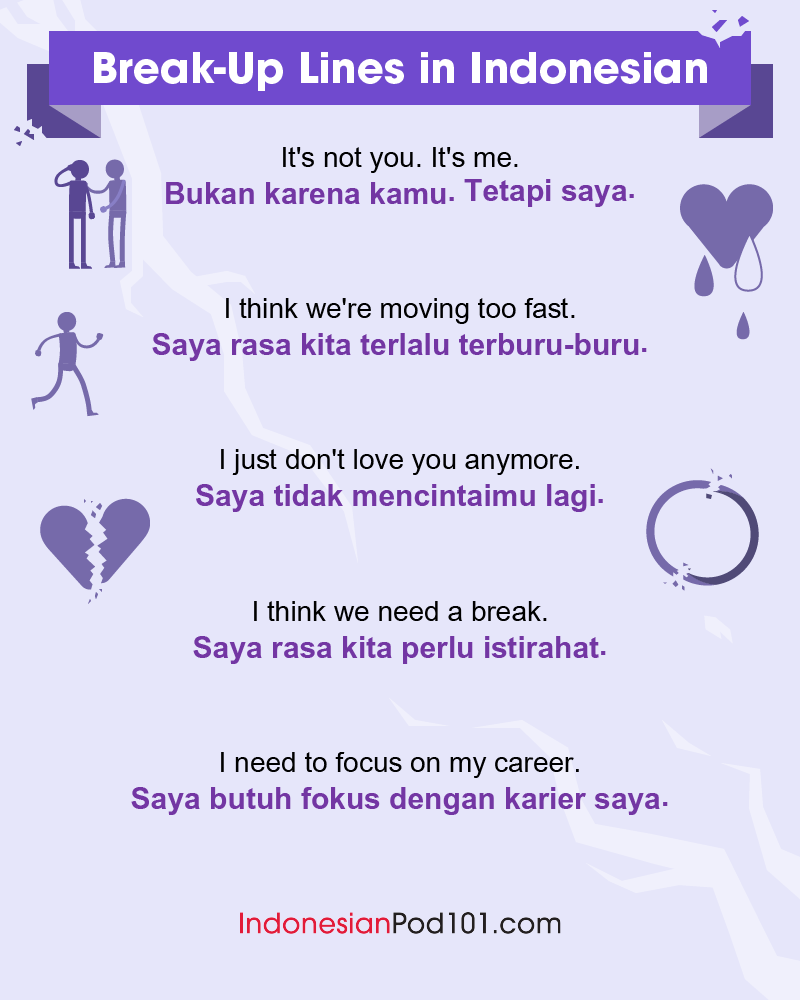 Indonesian Break-Up Lines