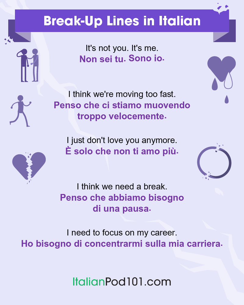 Italian Break-Up Lines