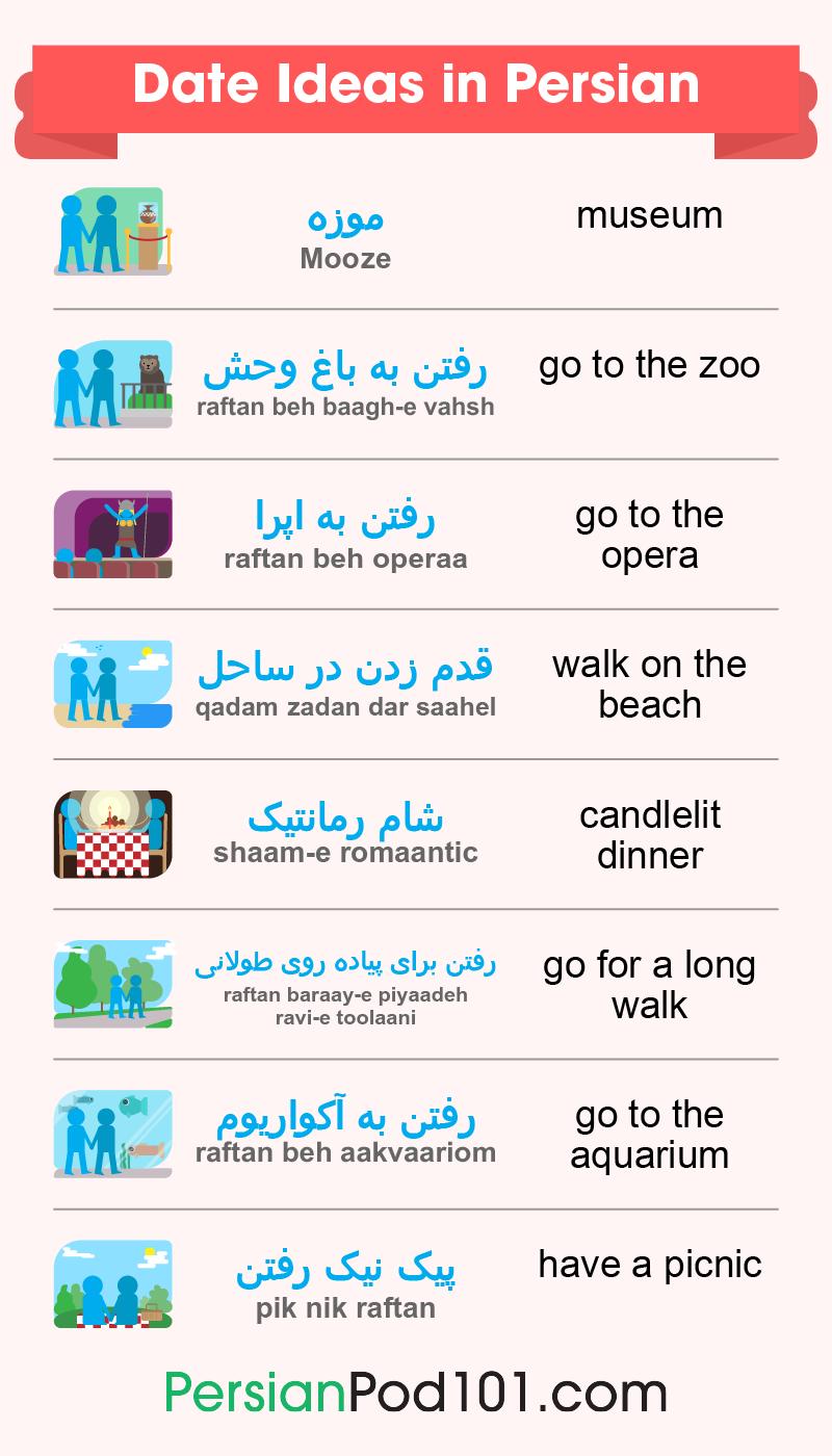 Date Ideas in Persian