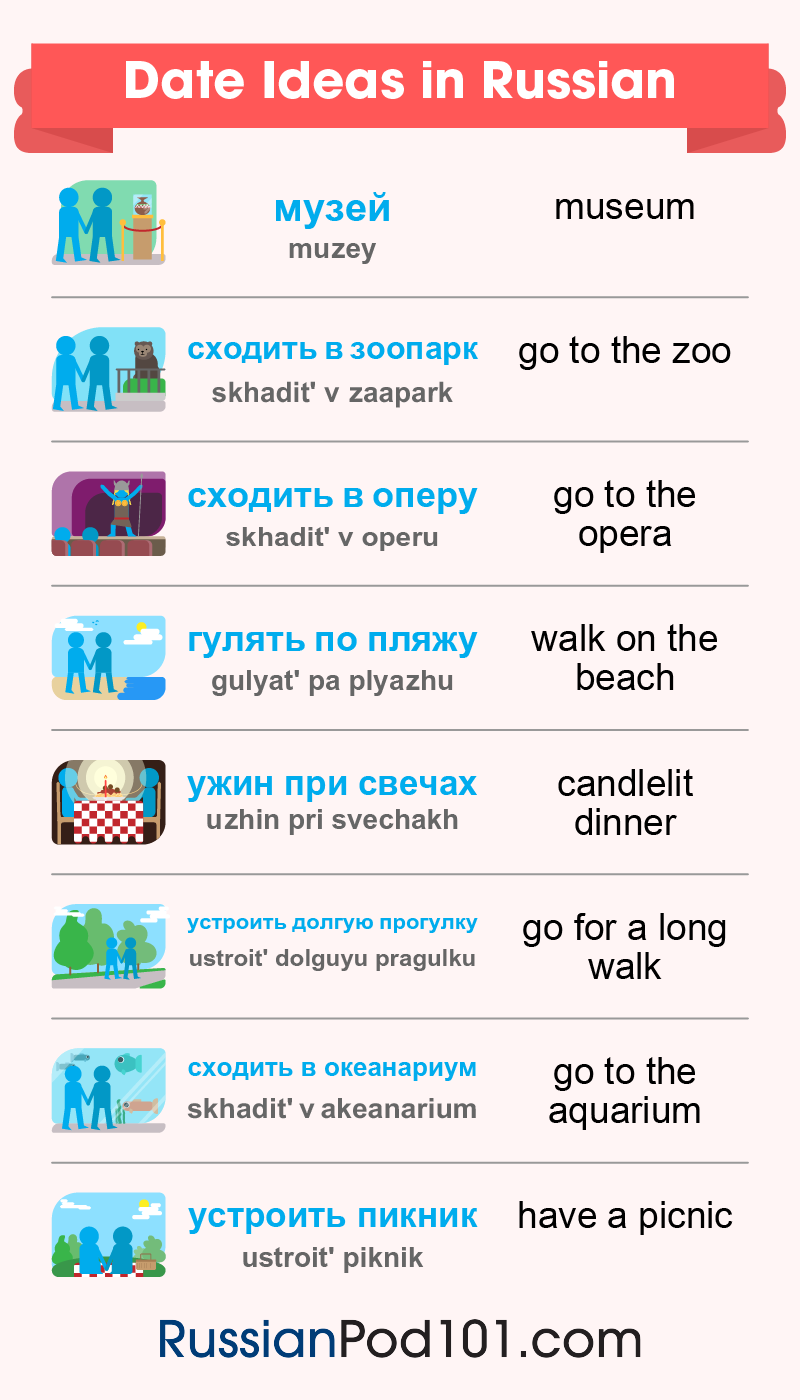 Date Ideas in Russian