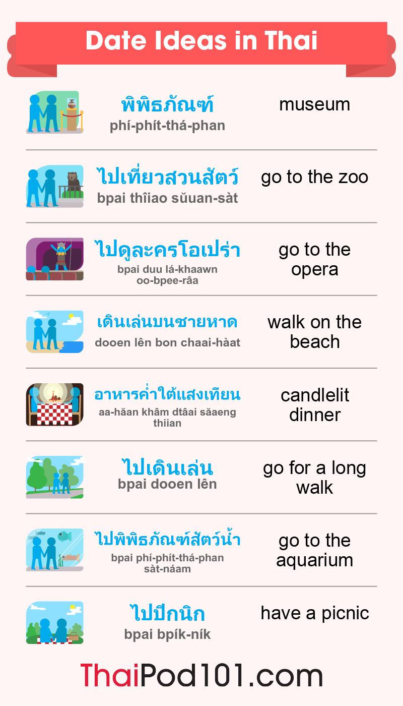 Date Ideas in Thai