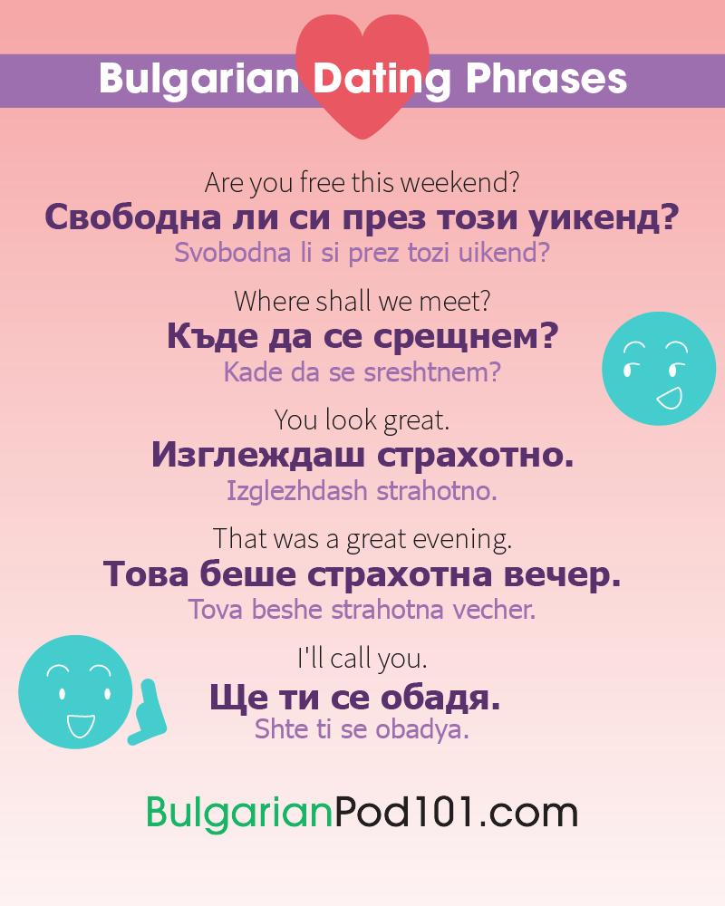 Bulgarian Date Phrases