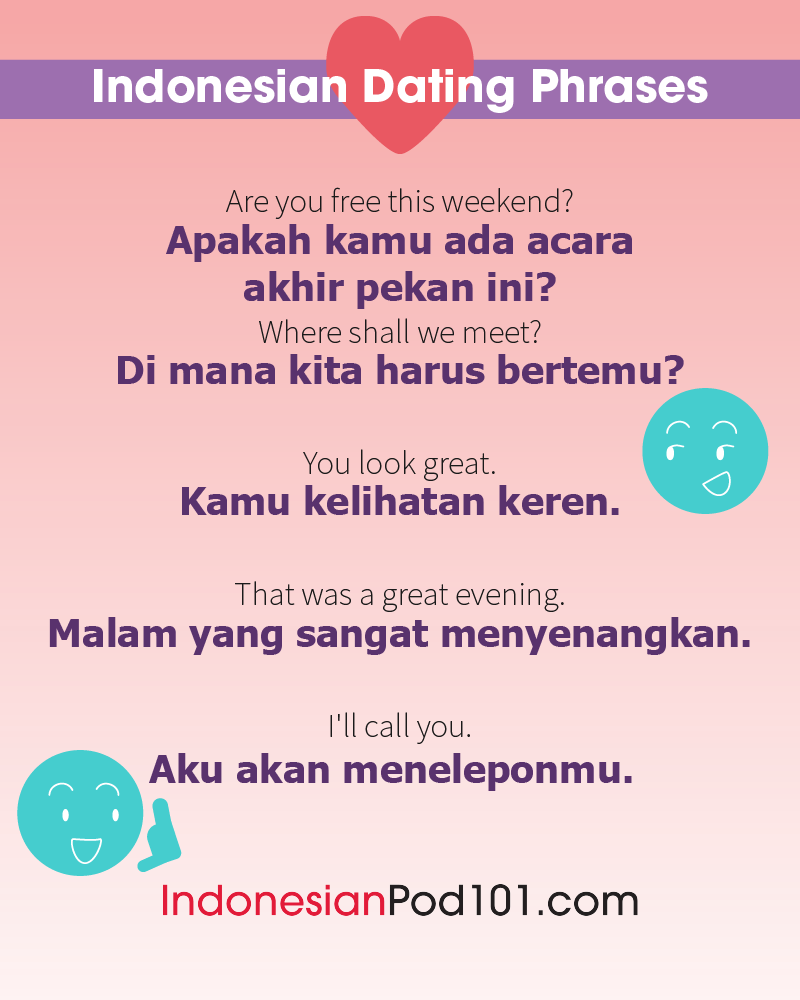 Indonesian Dating Phrases