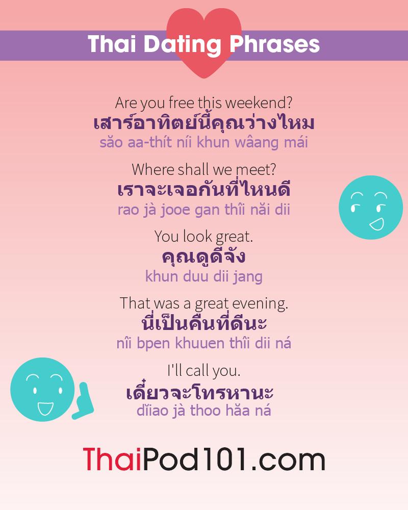 Thai Date Phrases