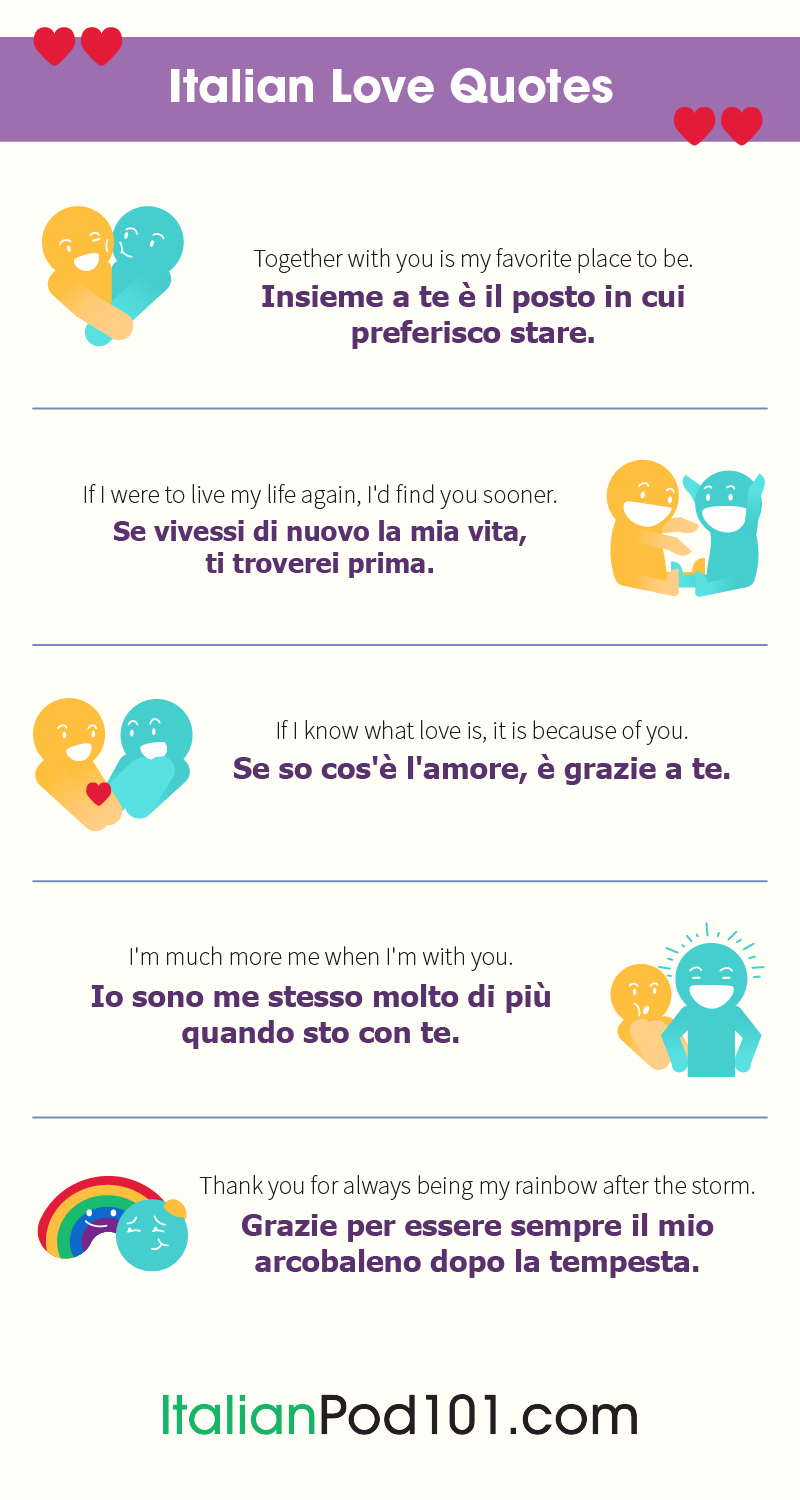 How to Say I Love You in Italian - Romantic Word List