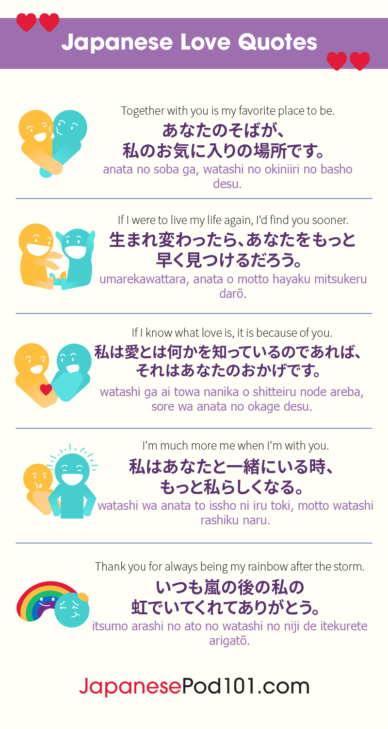 How To Say I Love You In Japanese Romantic Word List