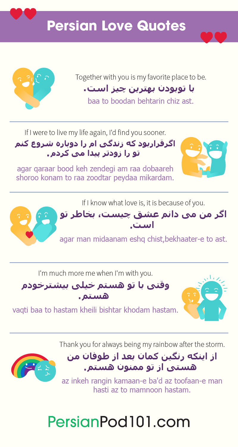How to Say I Love You in Persian - Romantic Word List