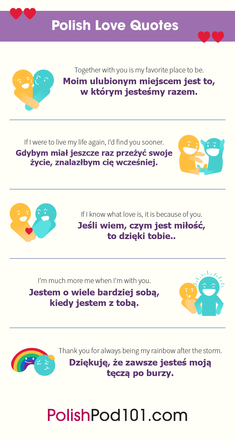 How to Say I Love You in Polish Romantic Word List