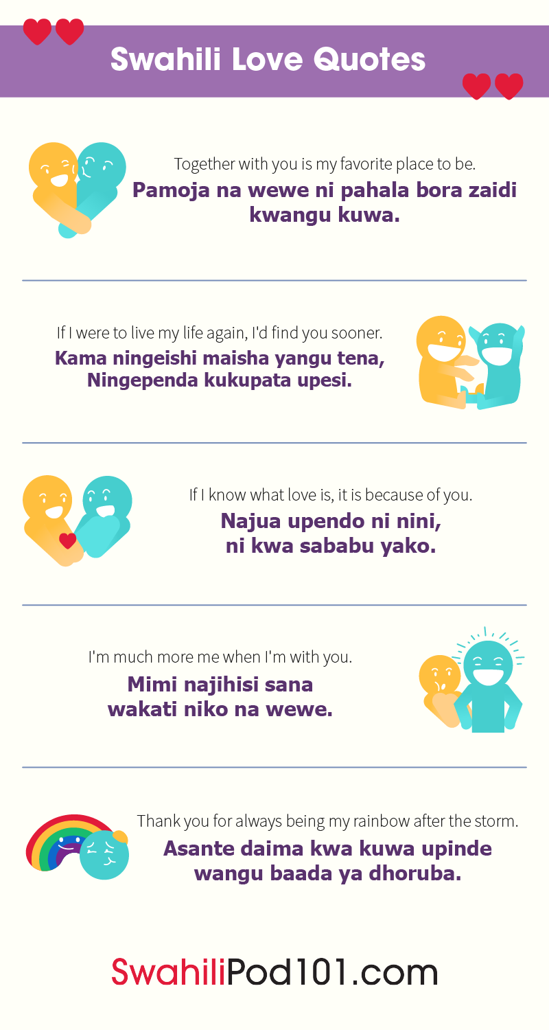 How to Say I Love You in Swahili - Romantic Word List
