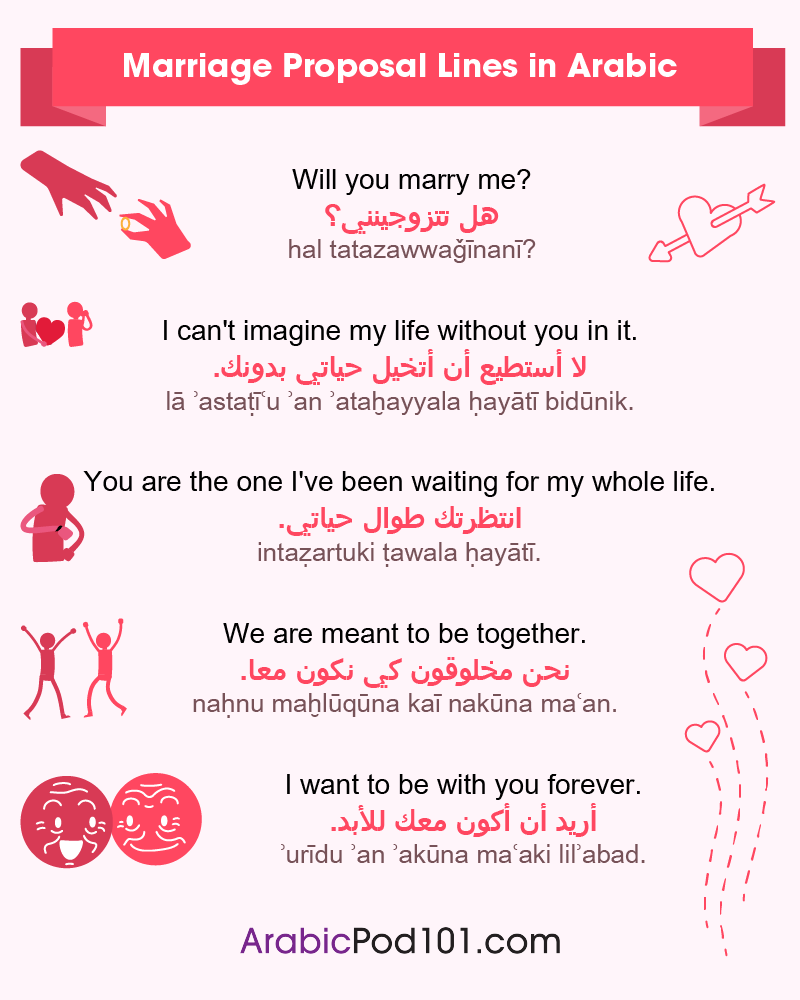 Arabic Marriage Proposal Lines