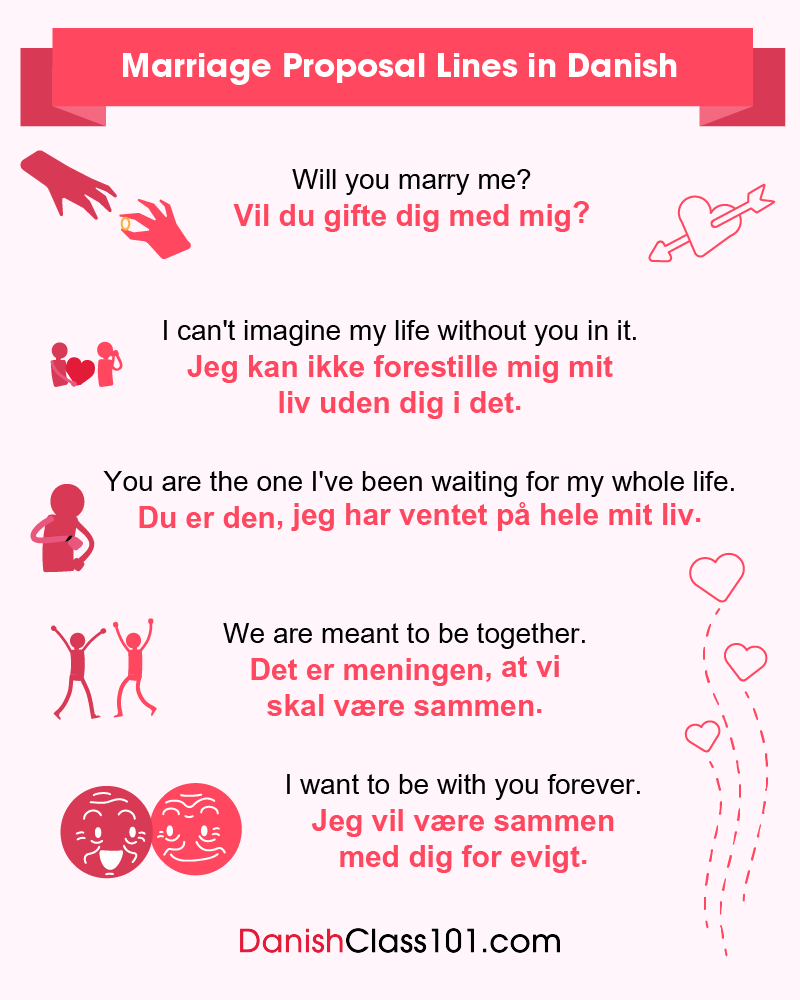 Danish Marriage Proposal Lines
