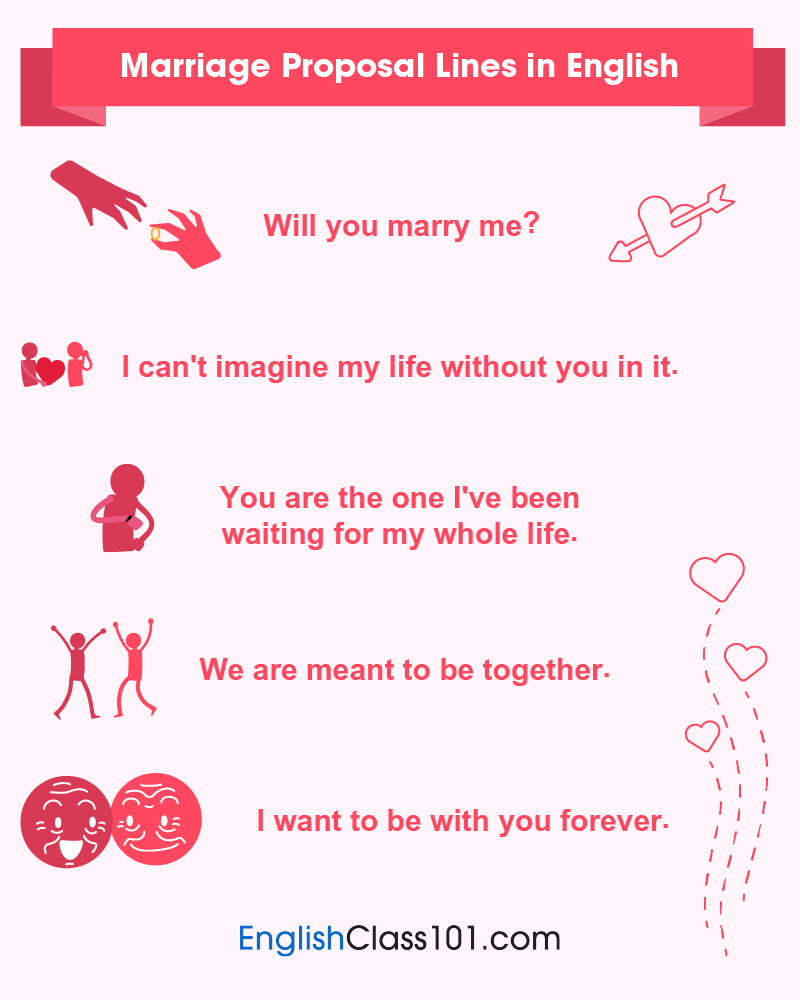 English Marriage Proposal Lines