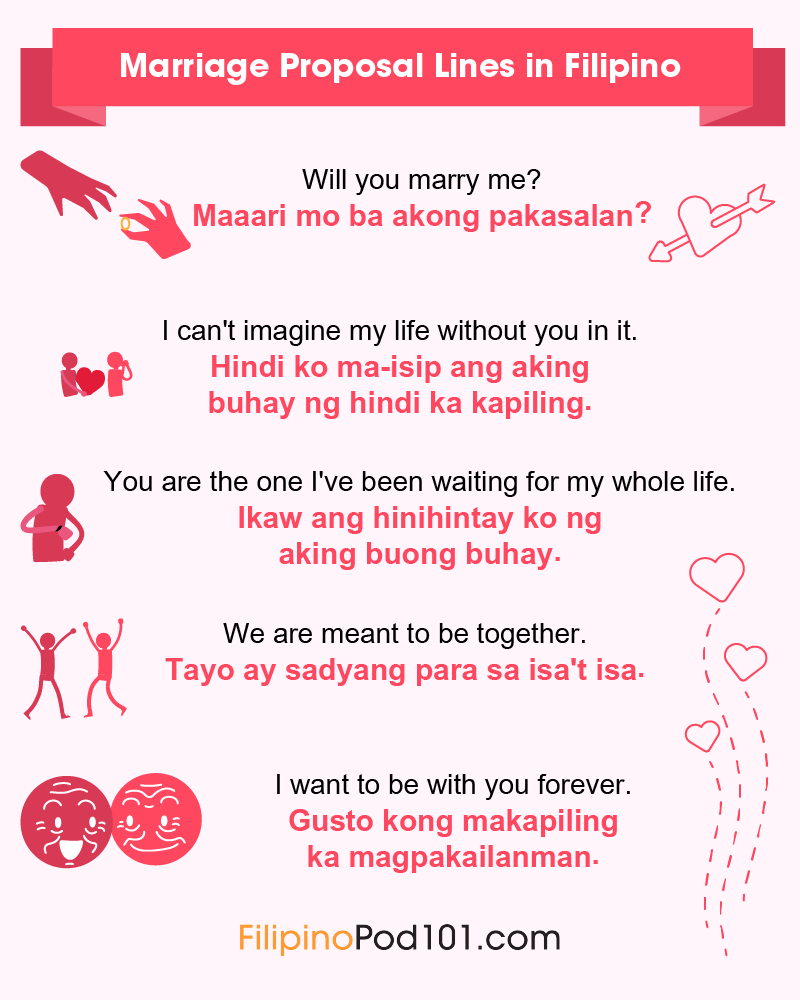 Filipino Marriage Proposal Lines