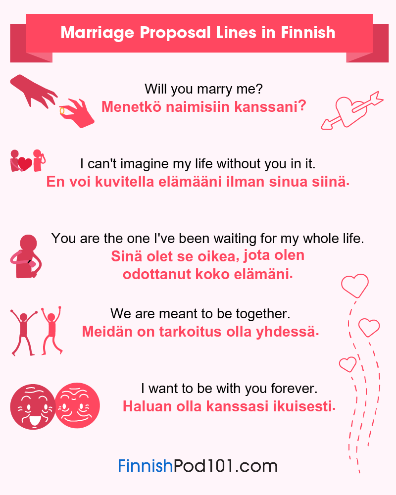 Finnish Marriage Proposal Lines