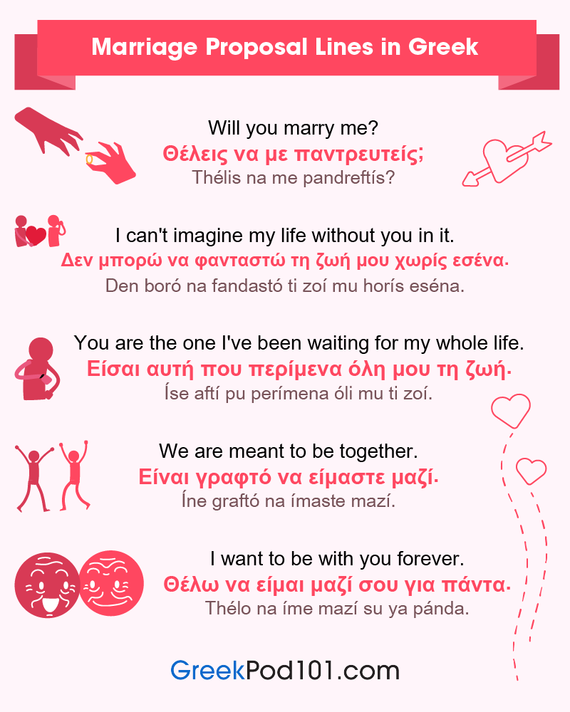 Greek Marriage Proposal Lines