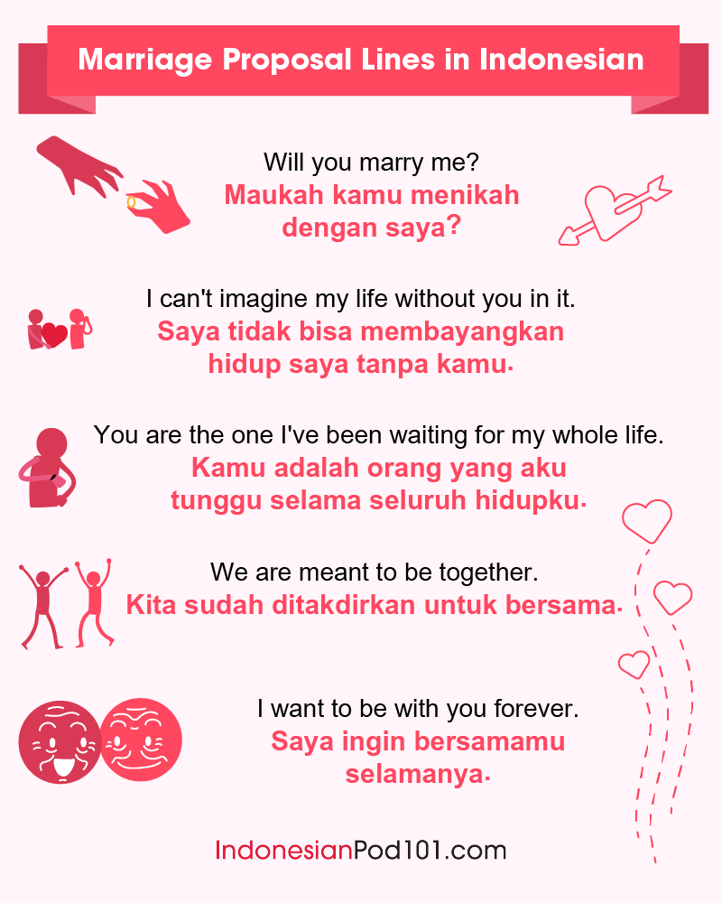 Indonesian Marriage Proposal Lines