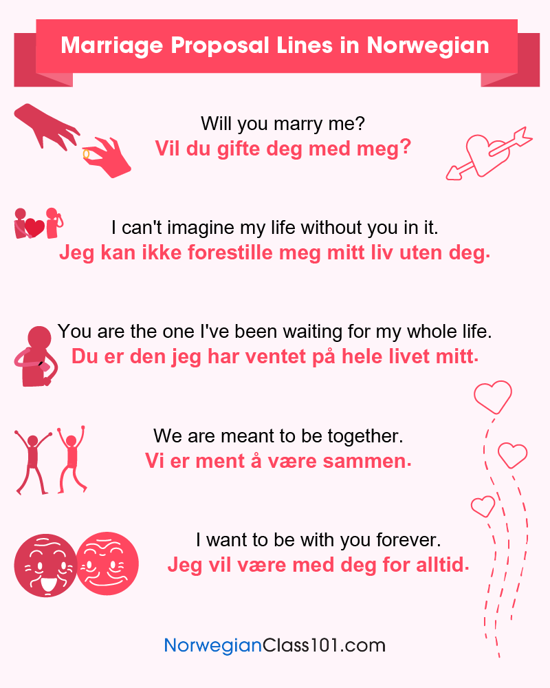 Norwegian Marriage Proposal Lines
