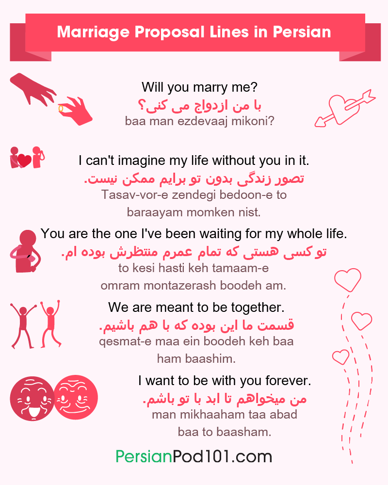 Persian Marriage Proposal Lines