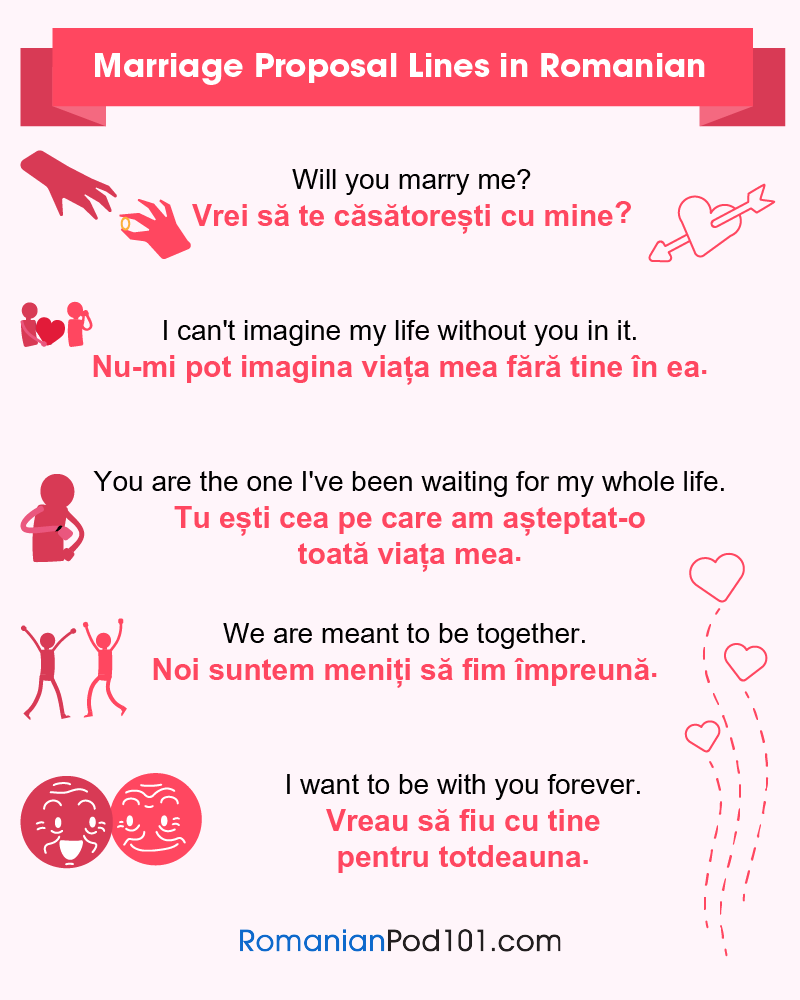 Romanian Marriage Proposal Lines