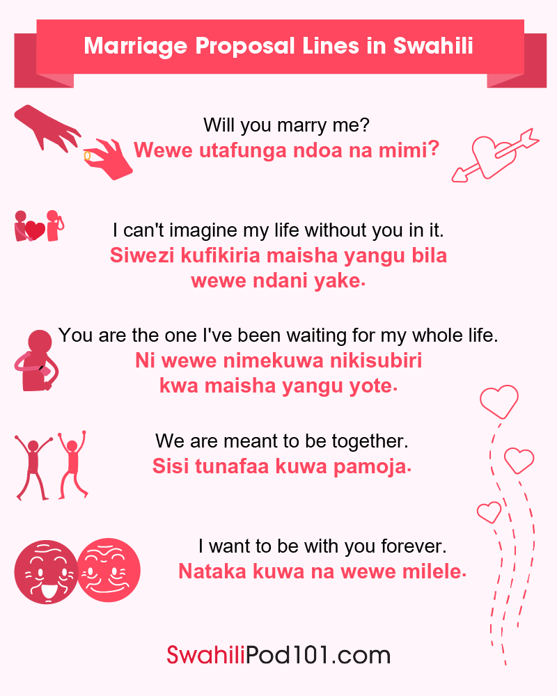 Swahili Marriage Proposal Lines