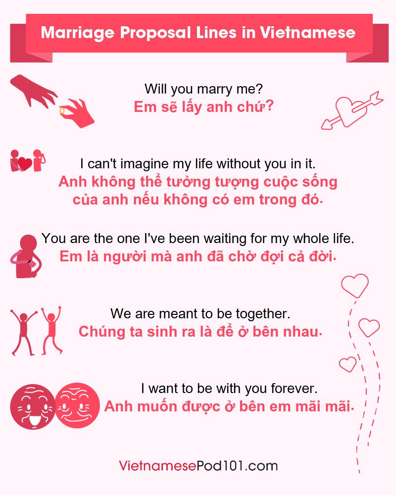 Vietnamese Marriage Proposal Lines