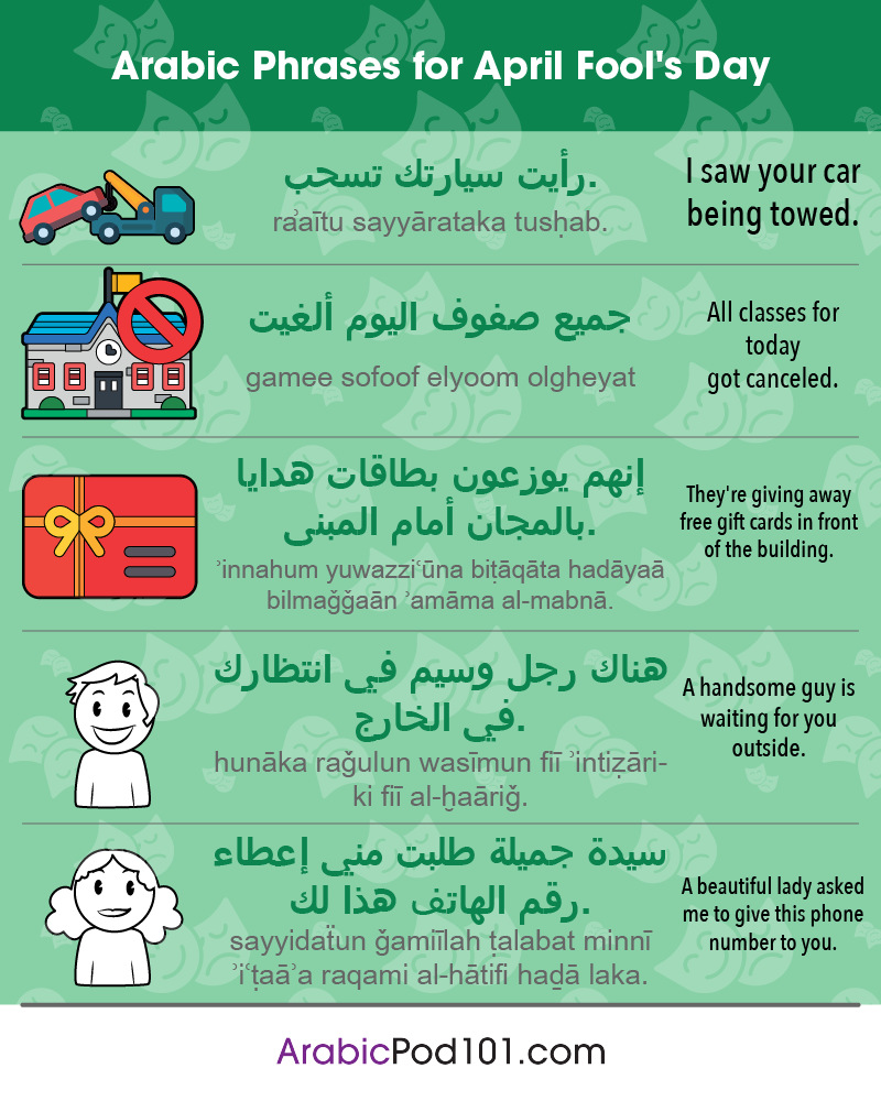 Arabic Phrases for April Fools' Day