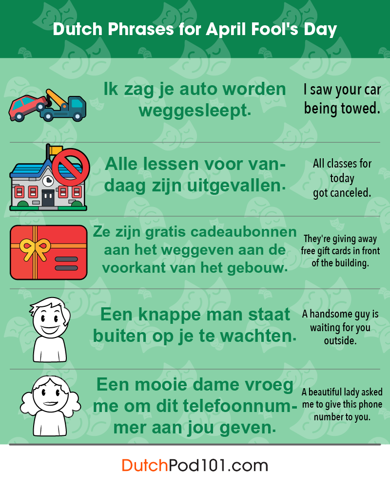 Dutch Phrases for April Fools' Day