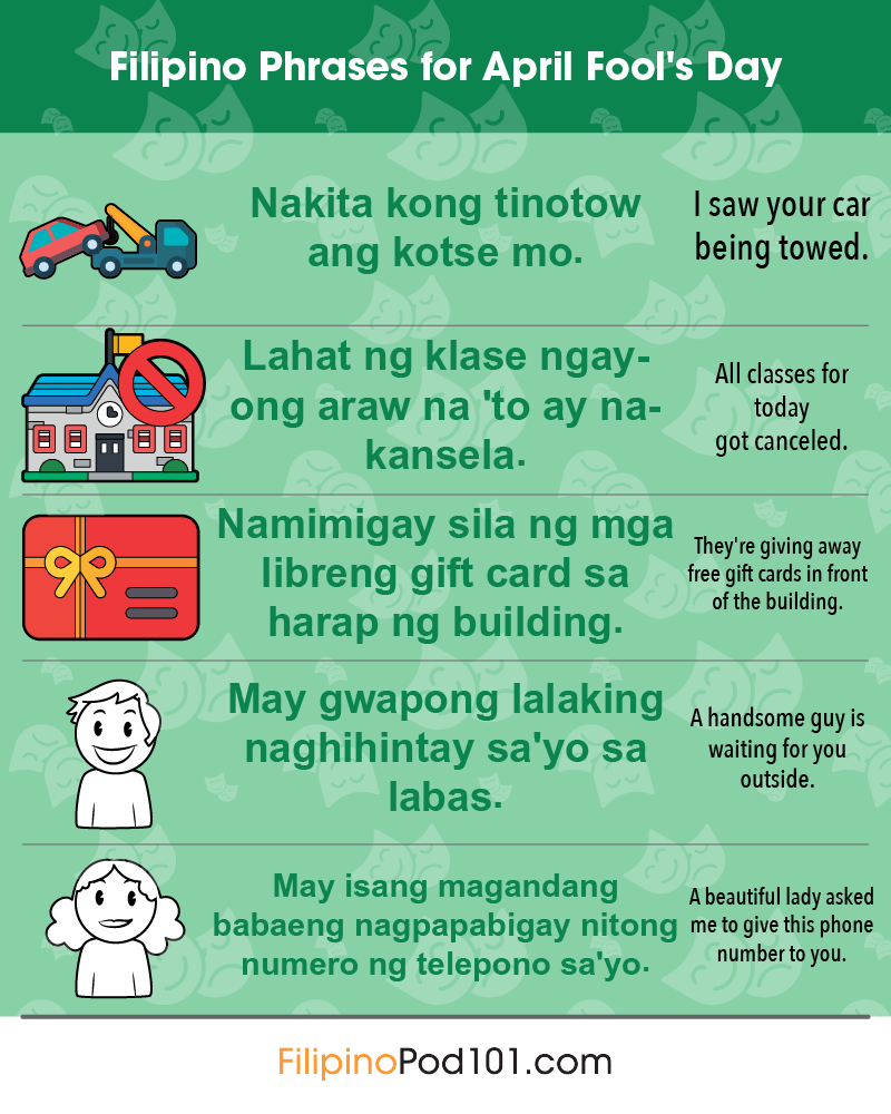 Filipino Phrases for April Fools' Day