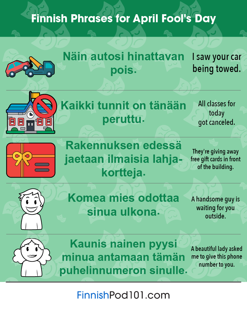 Finnish Phrases for April Fools' Day