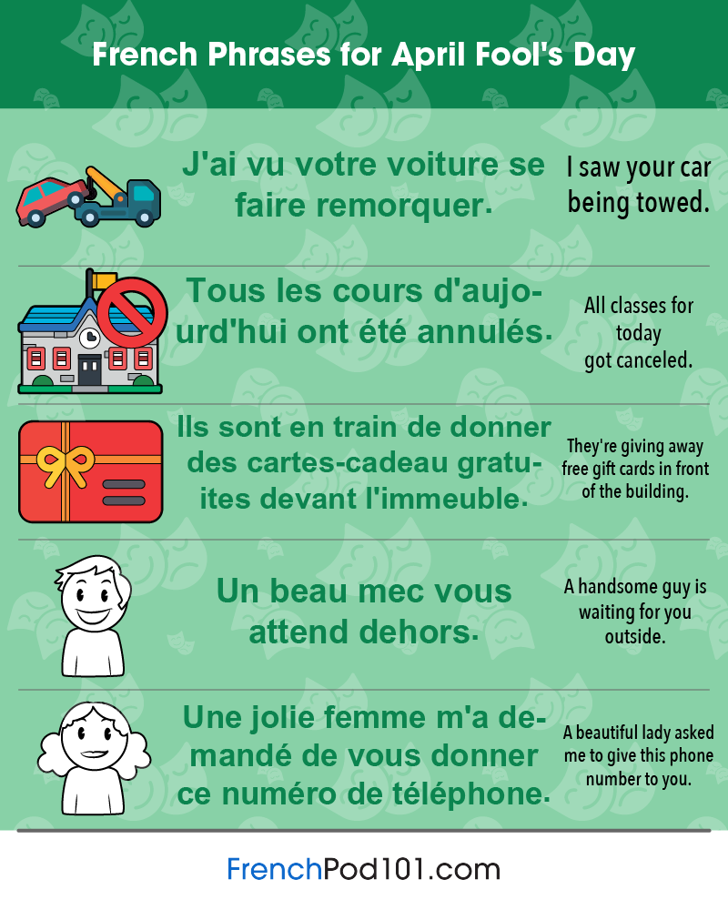 French Phrases for April Fools' Day