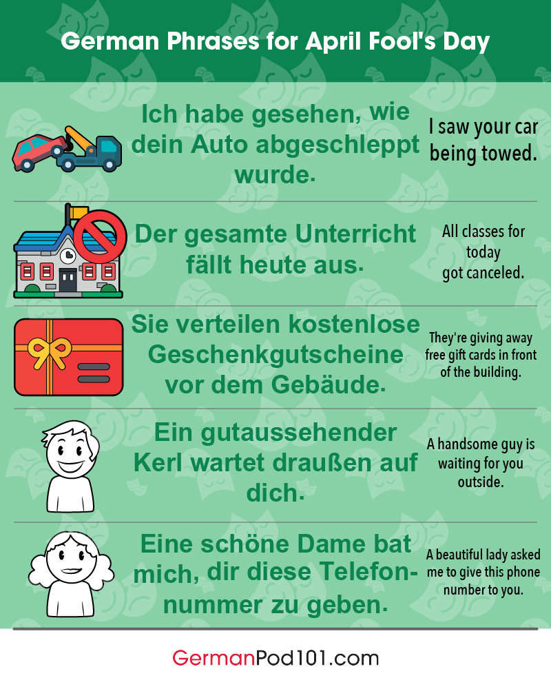 German Phrases for April Fools' Day