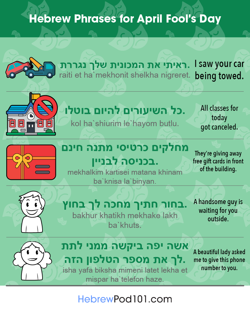 Hebrew Phrases for April Fools' Day
