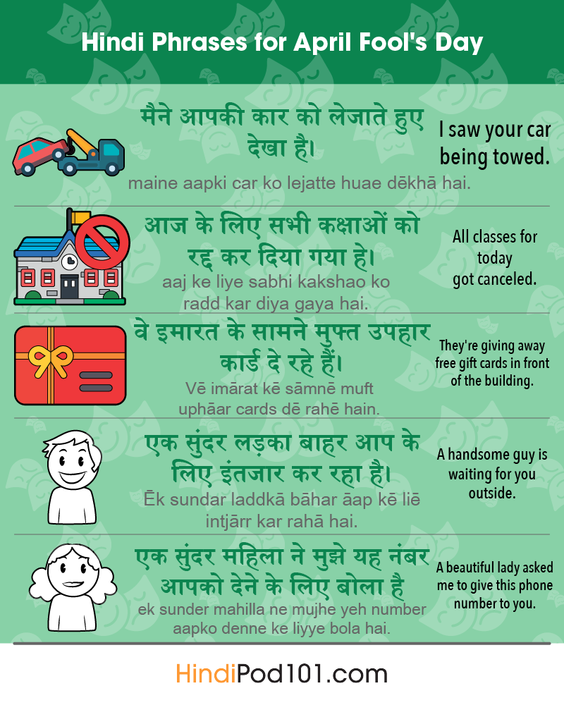 Hindi Phrases for April Fools' Day