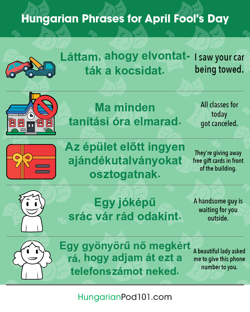 Hungarian Phrases for April Fools' Day