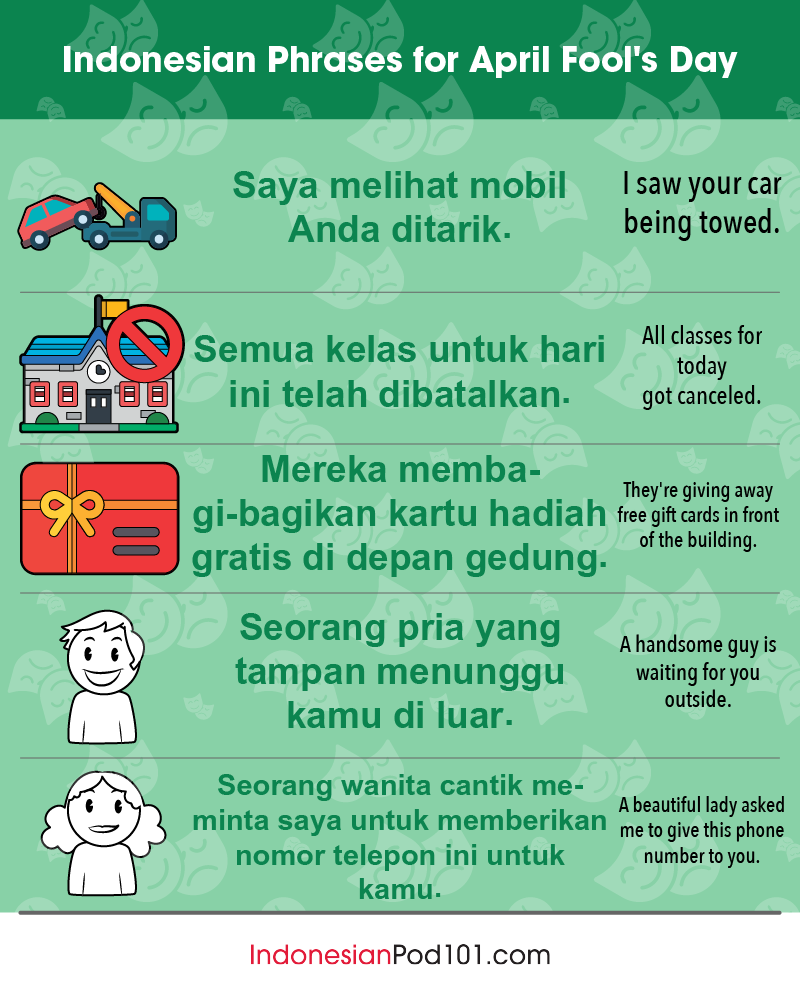 Indonesian Phrases for April Fools' Day