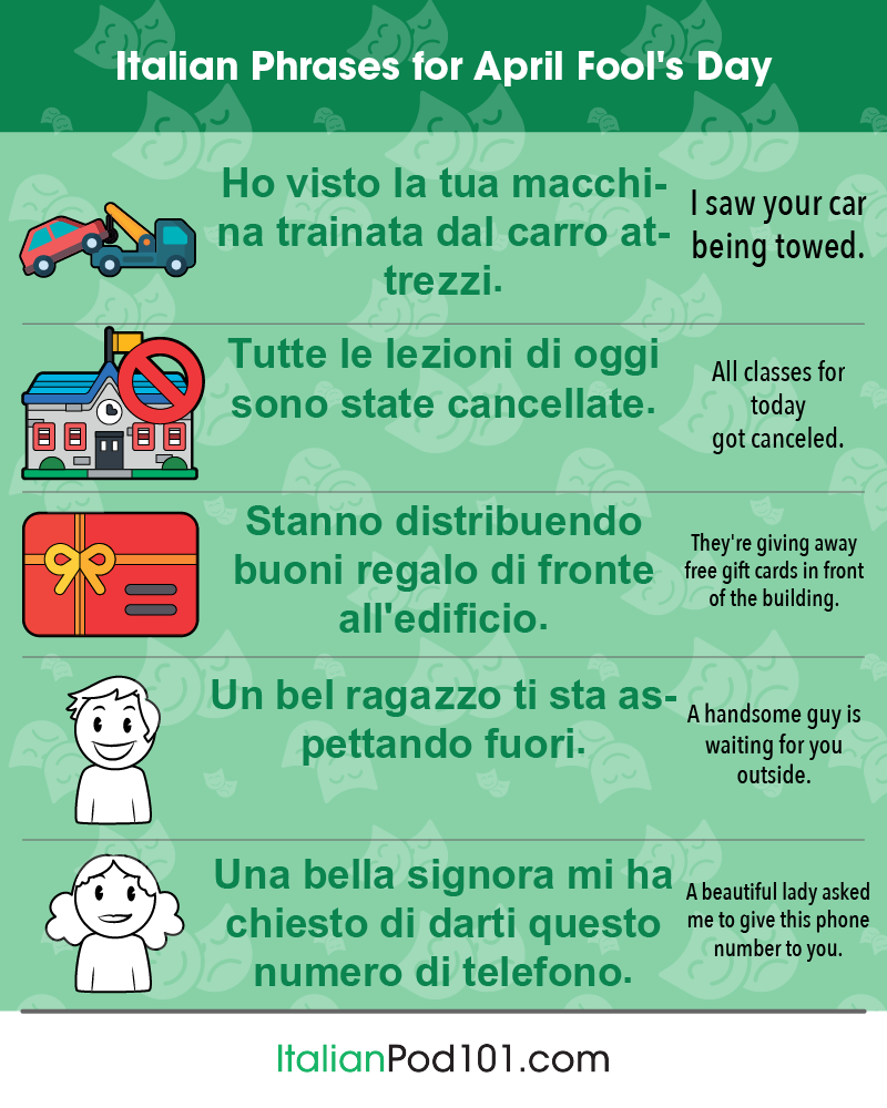 Italian Phrases for April Fools' Day