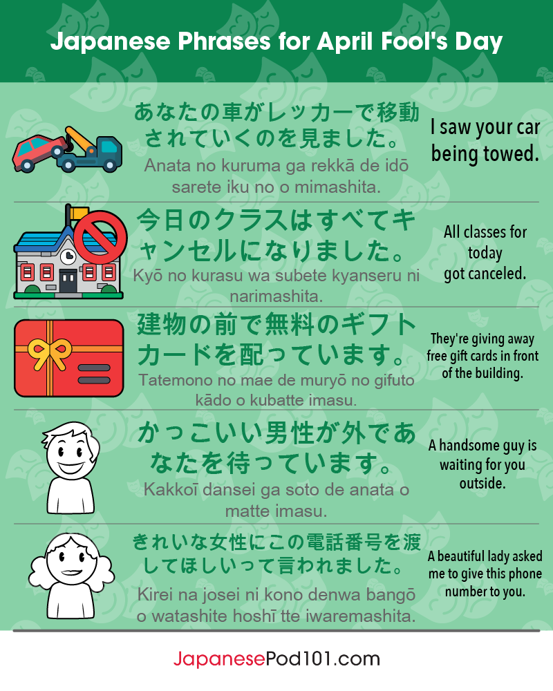 Japanese Phrases for April Fools' Day