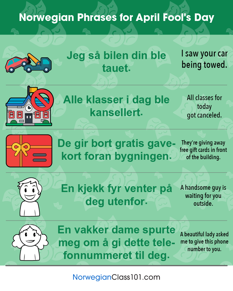 Norwegian Phrases for April Fools' Day