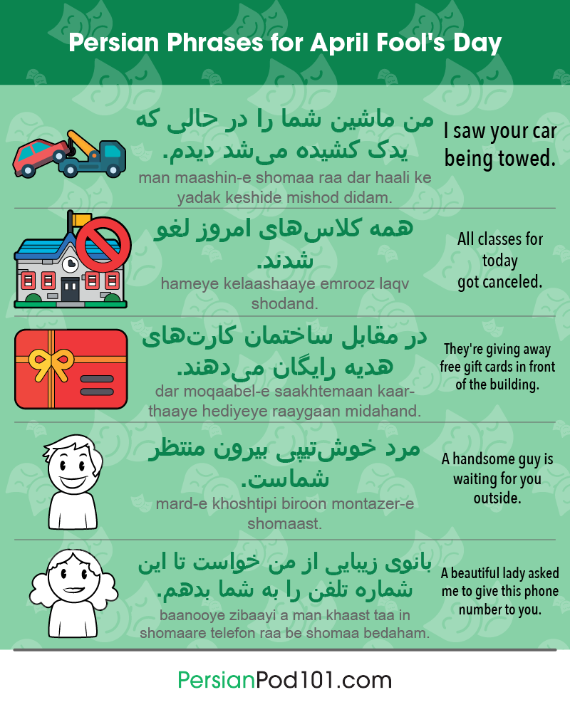 Persian Phrases for April Fools' Day