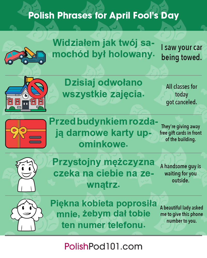Polish Phrases for April Fools' Day
