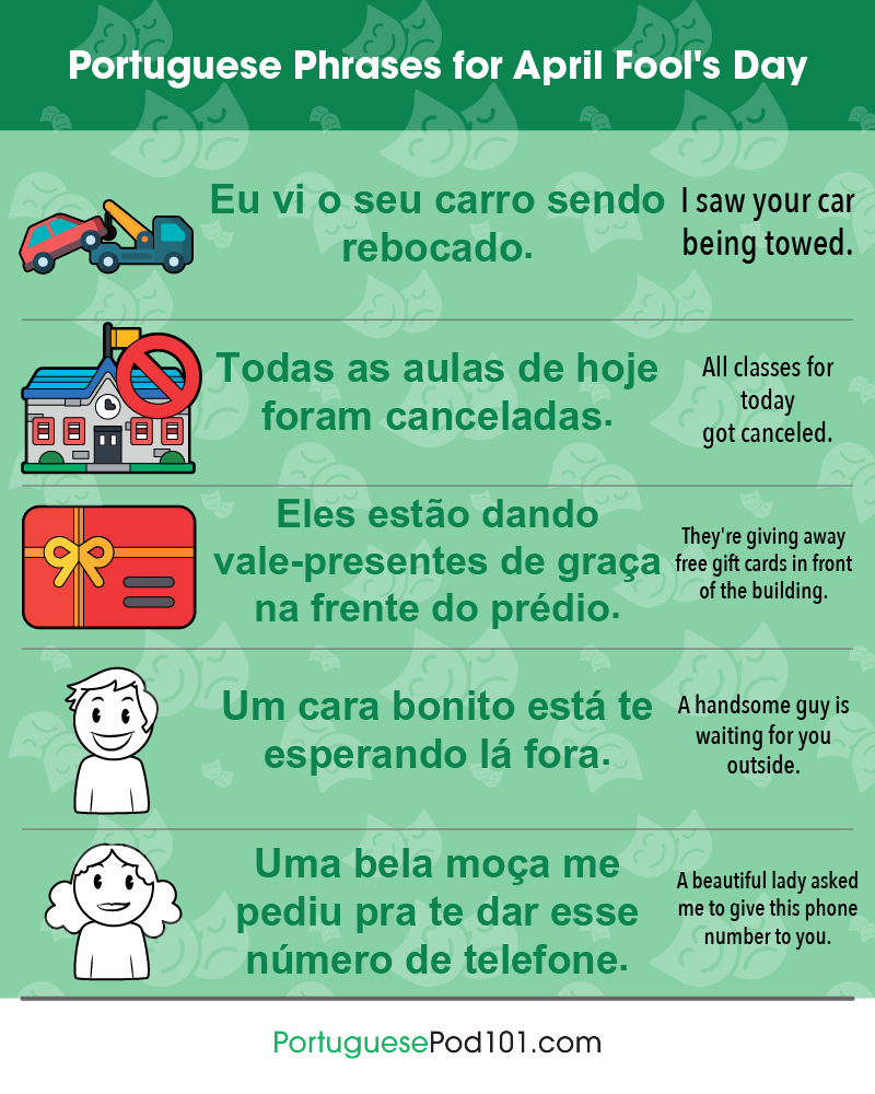 Portuguese Phrases for April Fools' Day