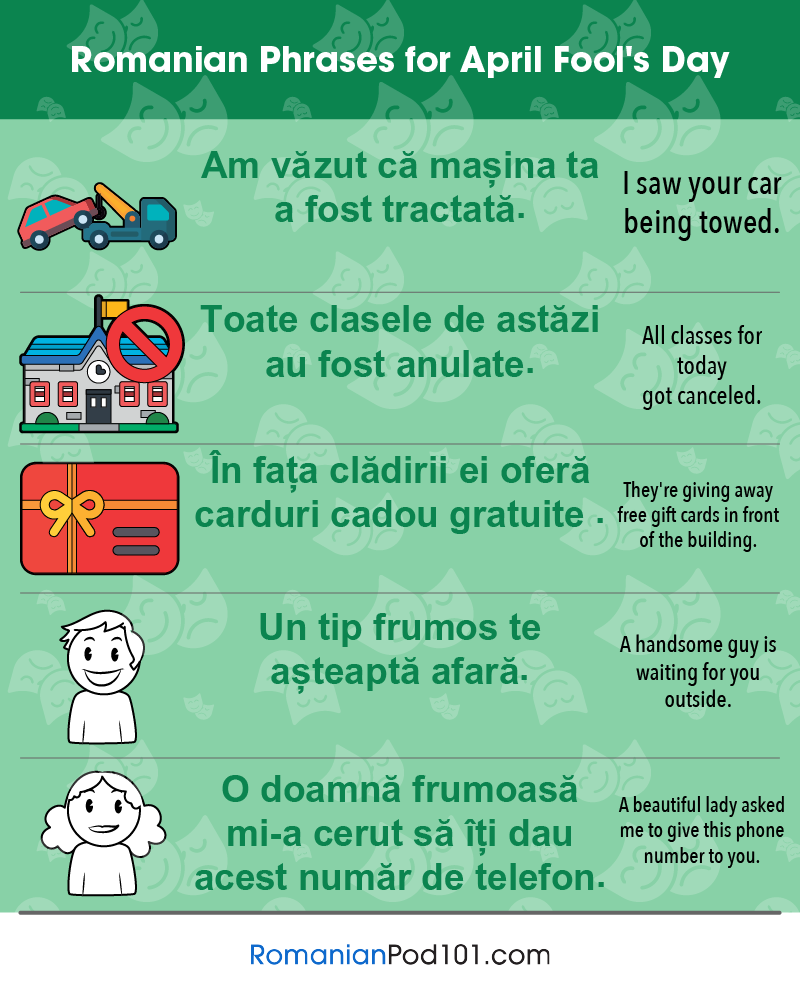 Romanian Phrases for April Fools' Day