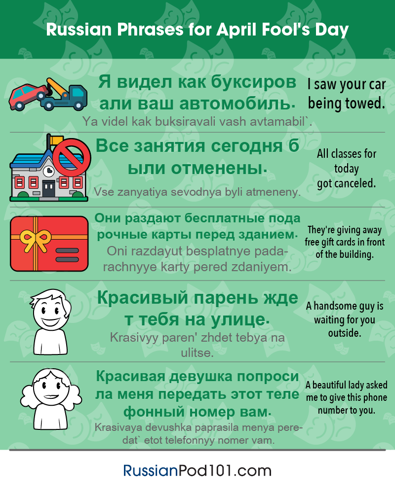 Russian Phrases for April Fools' Day
