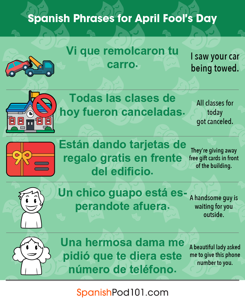 Spanish Phrases for April Fools' Day