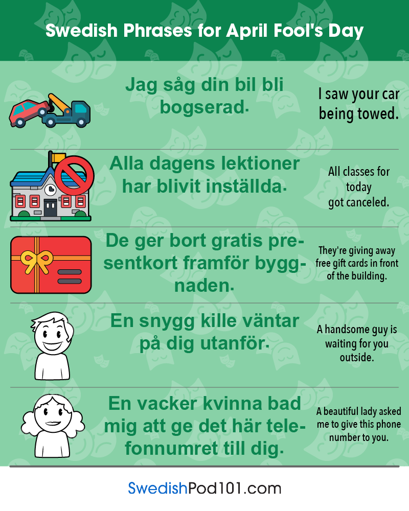 Swedish Phrases for April Fools' Day