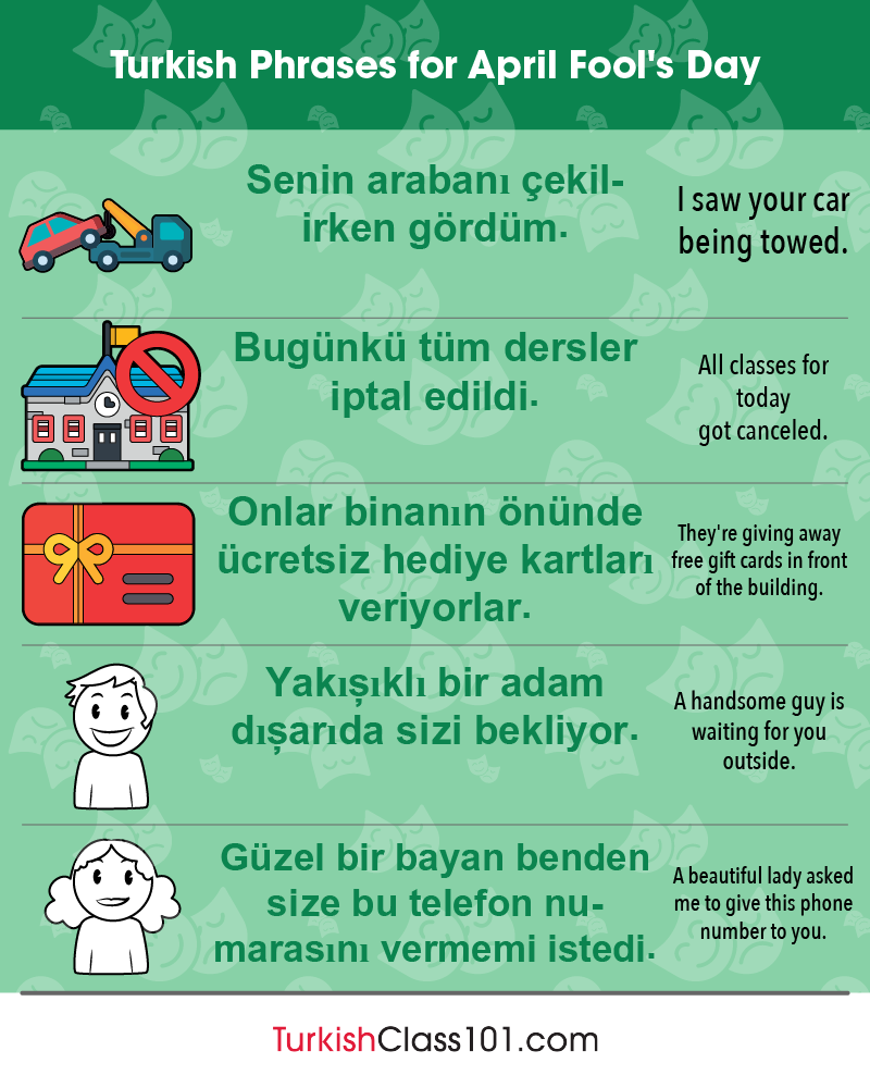 Turkish Phrases for April Fools' Day